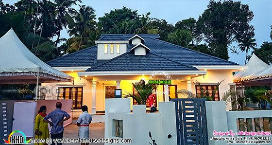 4 bedroom stunning look finished Kerala home