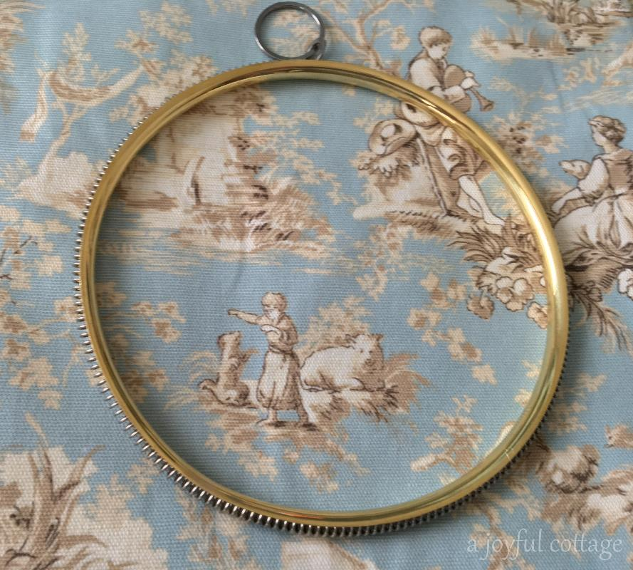 A Joyful Cottage Cottage Life French Embroidery Hoop