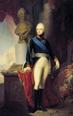 Portrait of Grand Duke Alexander Pavlovich by V.Borovikovsky 1800