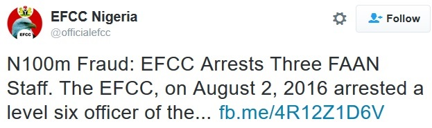3 Federal Airport Staff Nabbed by EFCC for Alleged N100million Fraud (See Photo)
