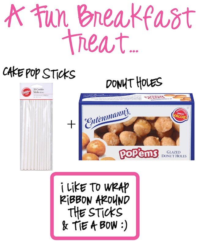 Donut Pops! They have all the looks and fun of cake pops, but without any of the hard work! Made with donut holes and cake pop sticks.