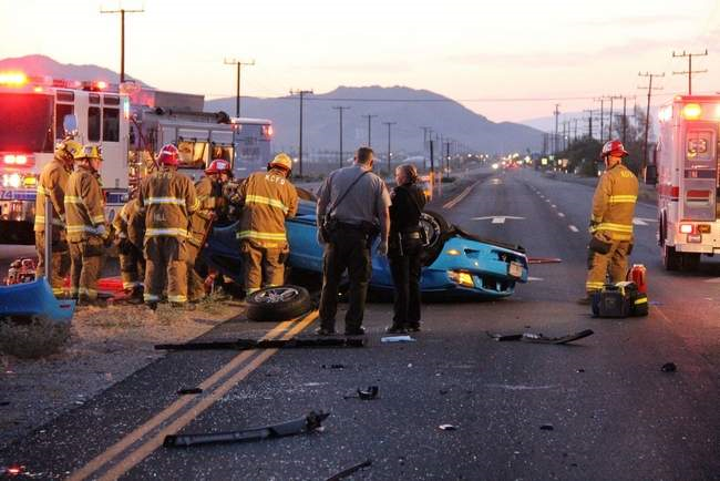 highway 178 fatality vehicle collision ridgecrest ford mustang pickup truck