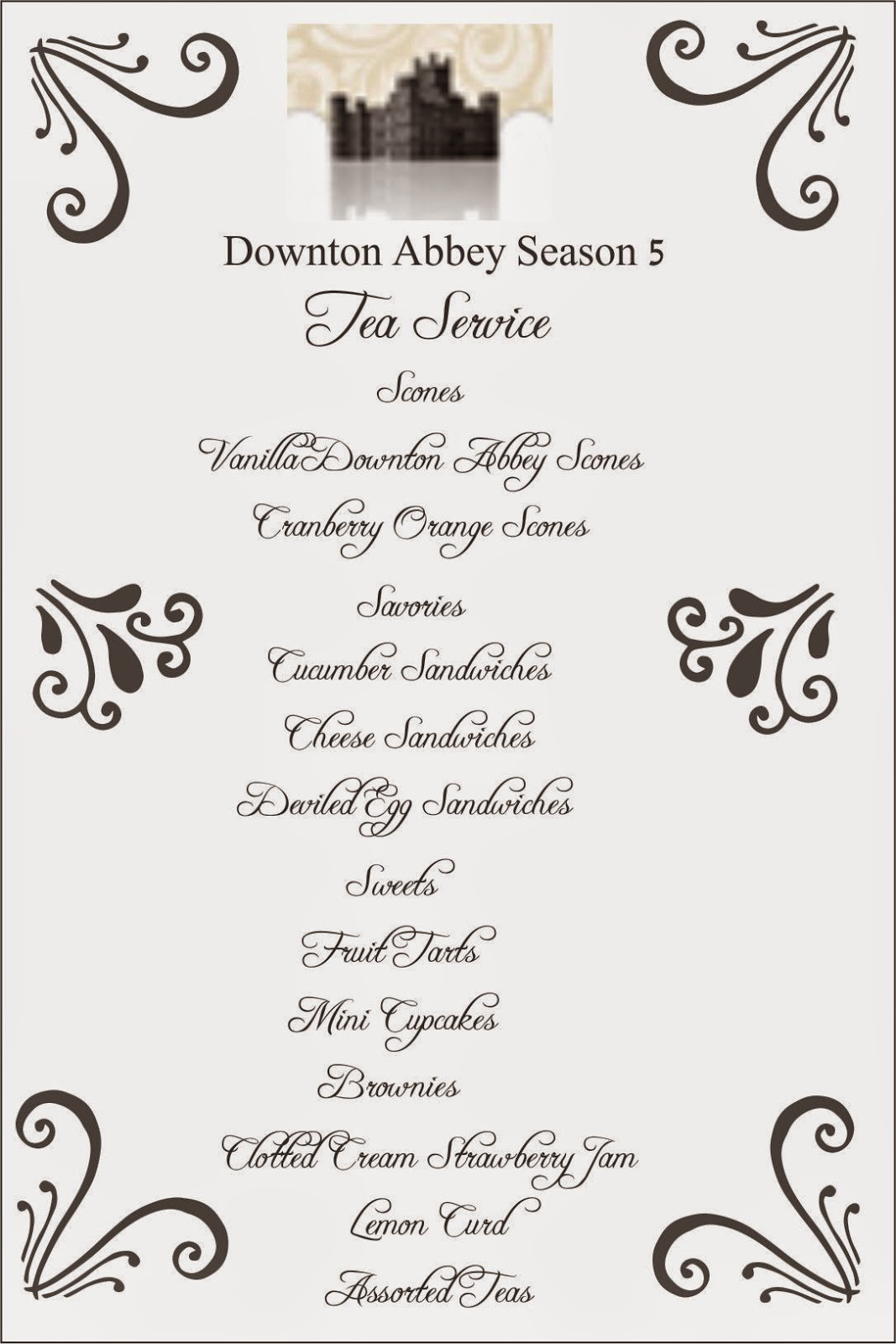 How D You Do That Downton Abbey Season 5 Party