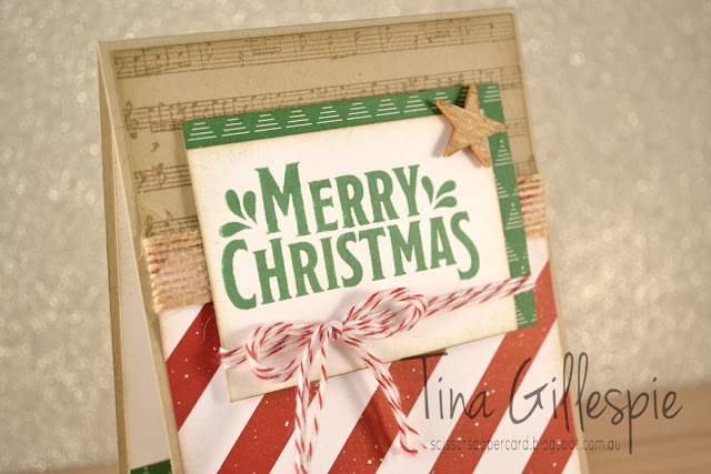 Christmas Card, Be Merry DSP, Merry Mistletoe, Sheet Music, scissorspapercard, Stamping' Up!, Art With Heart, Heart Of Christmas