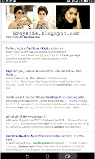 Entri Blog di Muka Pertama Google