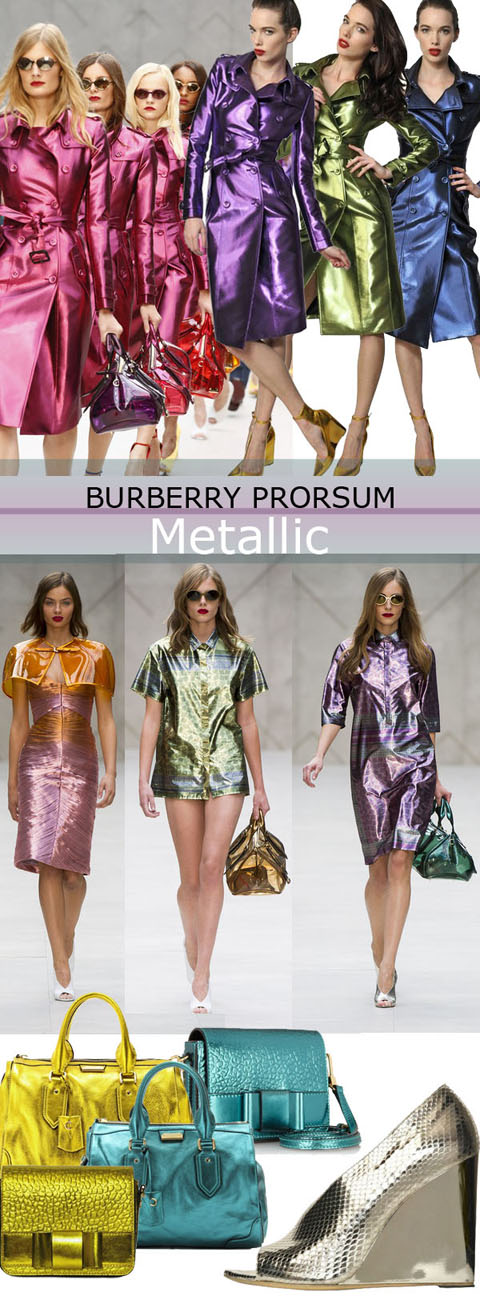 Spring trend 2013 Burberry Prorsum Metallic