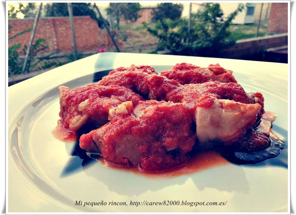 Mi peque o rincon manitas de cordero con tomate for Cocinar cabeza de cordero