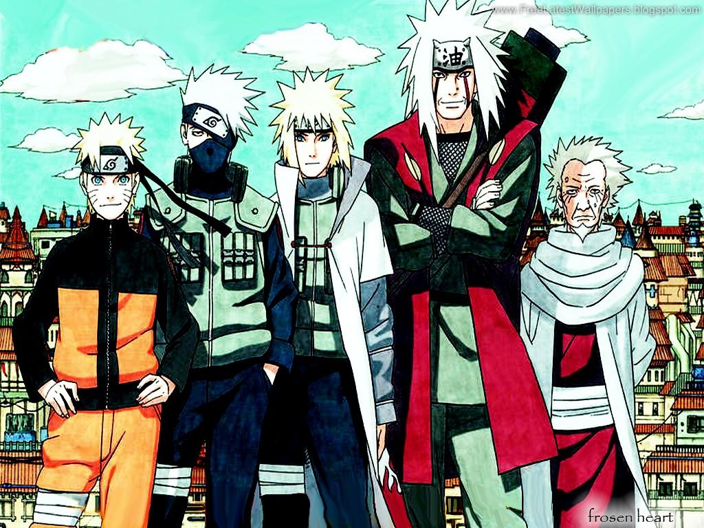 Naruto Minato and Jiraiya - Naruto Wallpapers