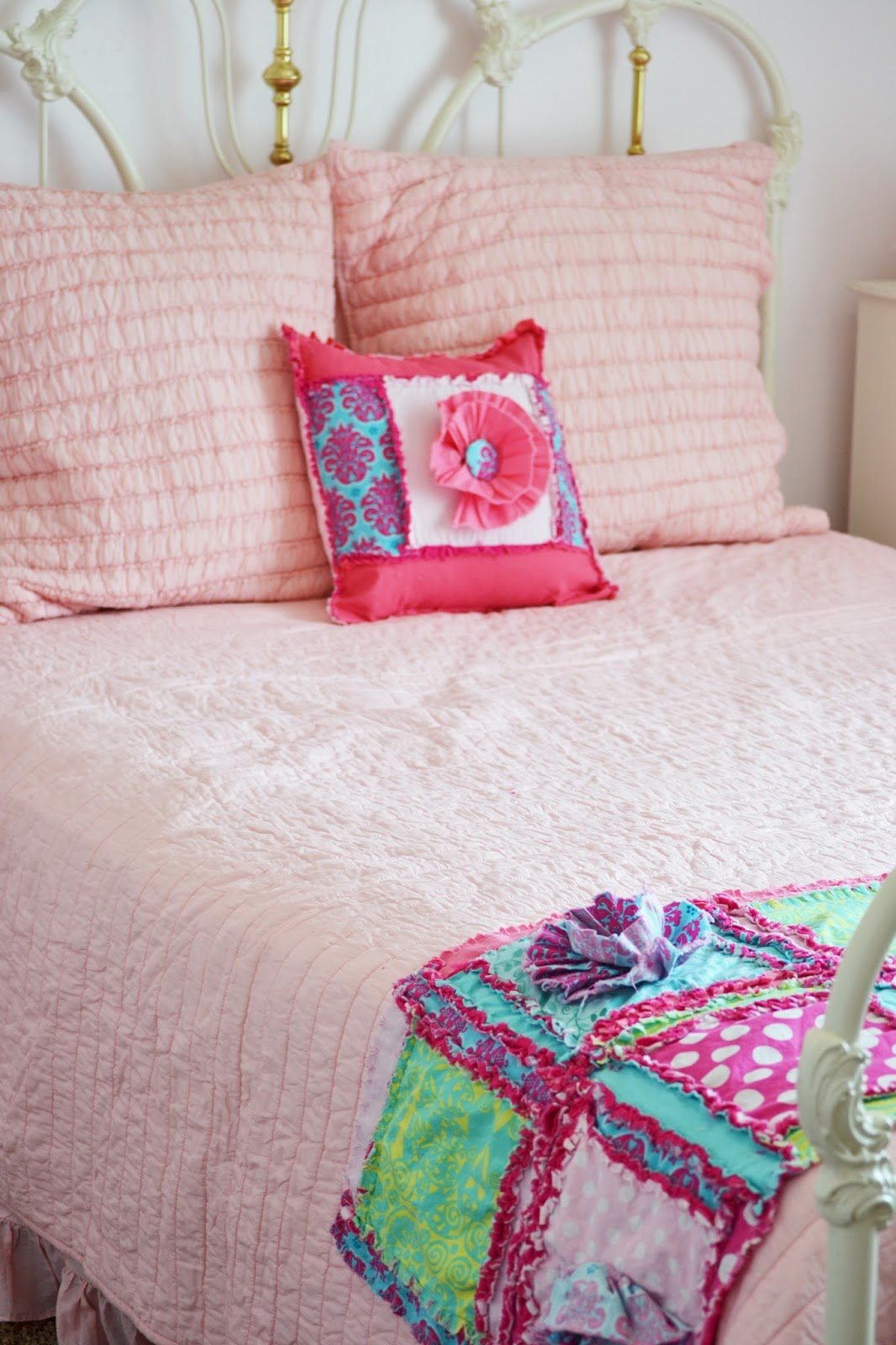 How To Sew A Rag Quilt Throw Pillow A Vision To Remember