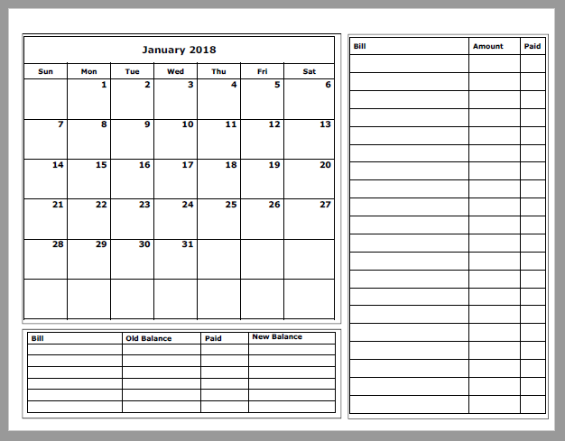 Grace christian homeschool free 2018 budget calendars are ready i also added in an interest section to the debt snowball category subscribe here to download these for free too solutioingenieria Image collections