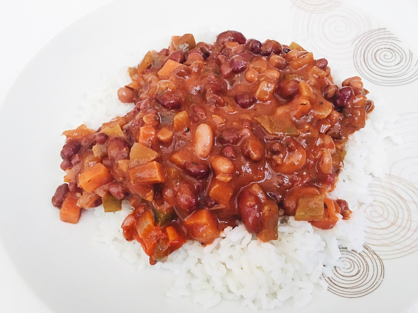 Vegan Four Bean and Vegetable Chilli