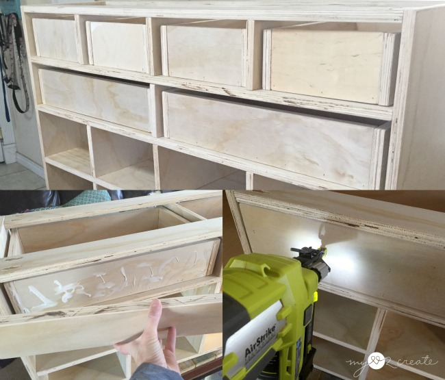 attaching drawer fronts