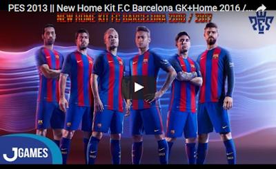 PES 2013 Barcelona Kit Season 2016/2017