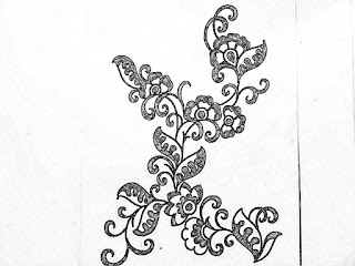 Hand embroidery design -11 | How to draw an easy design for hand embroidery