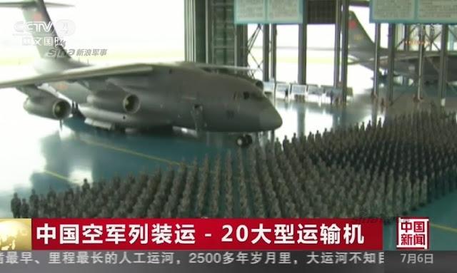 طائره النقل الثقيل الصينيه الجديده Xian Y-20  Xian%2BY-20%2Bmilitary%2Btransport%2Baircraft%2Bhand%2Bover%2Bceremony%2B7