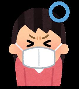 咳エチケットのイラスト(マスクをする)