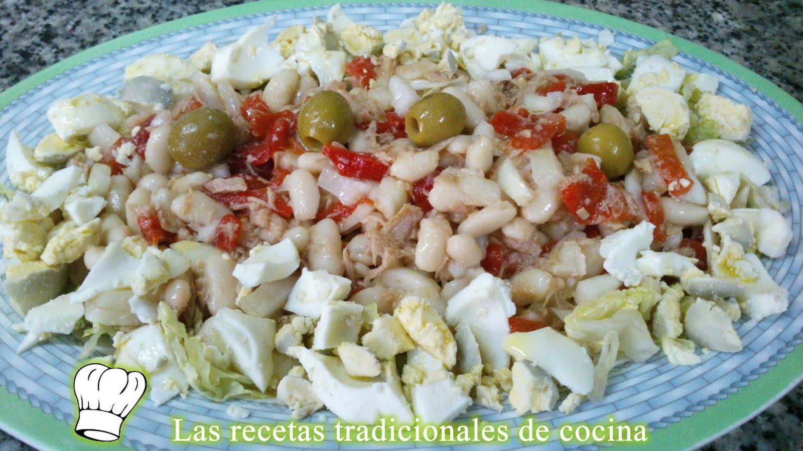 Receta de ensalada de alubias blancas recetas de cocina for Cocinar judias blancas de bote