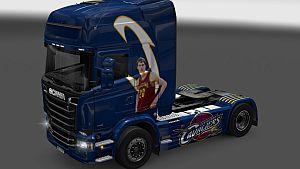 Cleveland Cavaliers skin for Scania Streamline SCS
