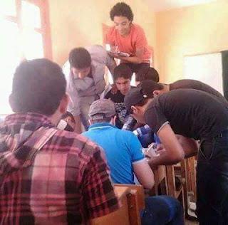 """صورة """"غش جماعى للطلاب فى احدى لجان امتحانات الثانوية العامة"""