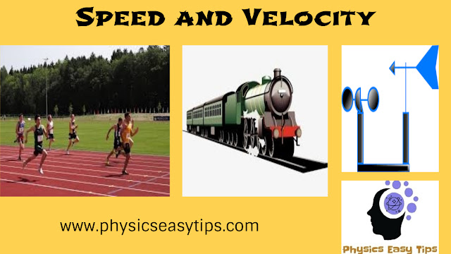Speed and velocity best concept