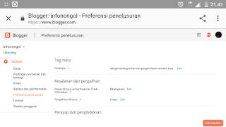 Pengaturan blogger