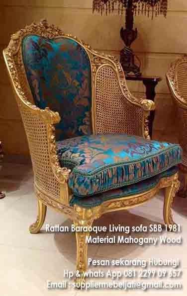 Jepara Furniture Sofa Ukir Rotan French Gold Furniture