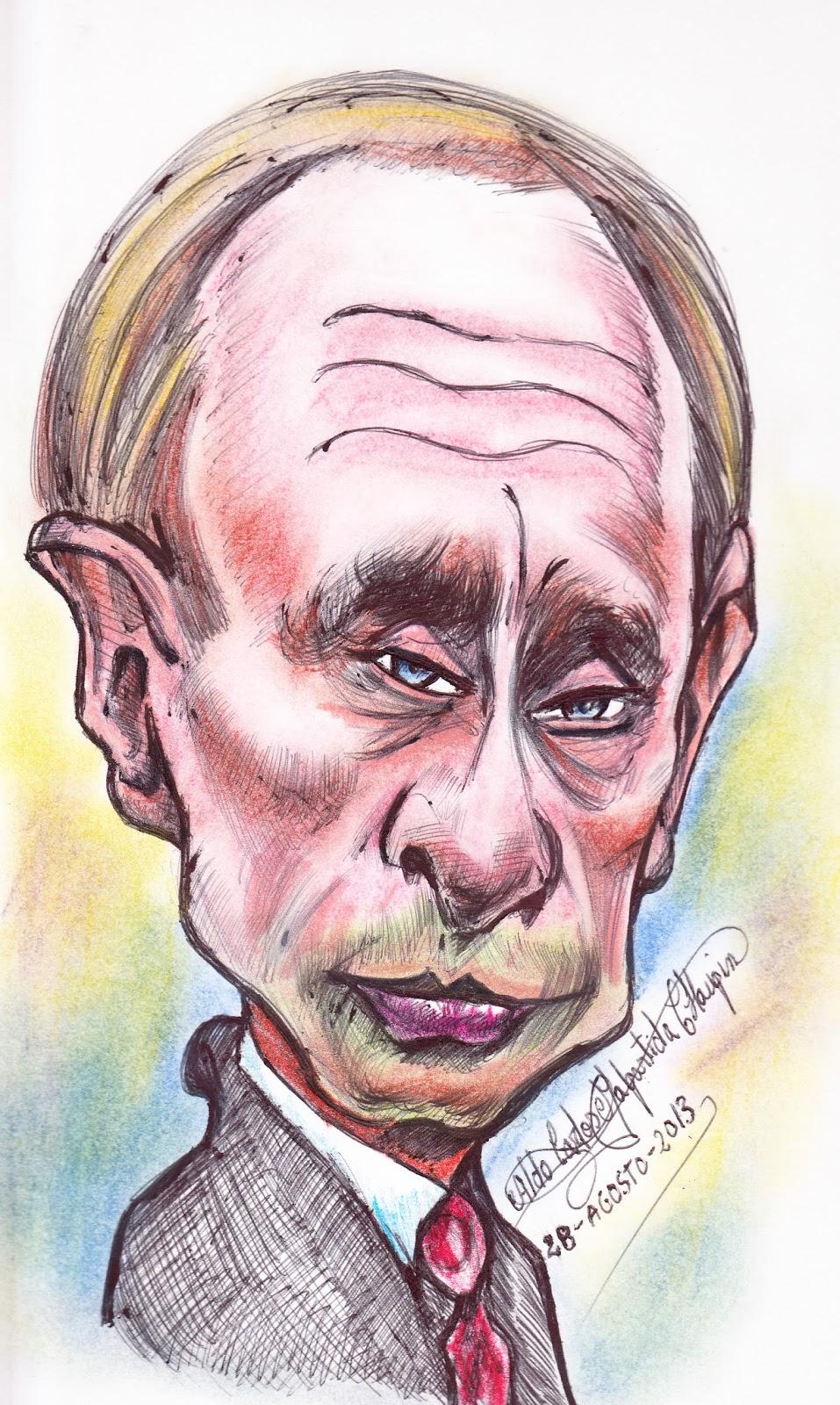 Resultado de imagen para Caricaturas de Vladímir Vladímirovich Putin