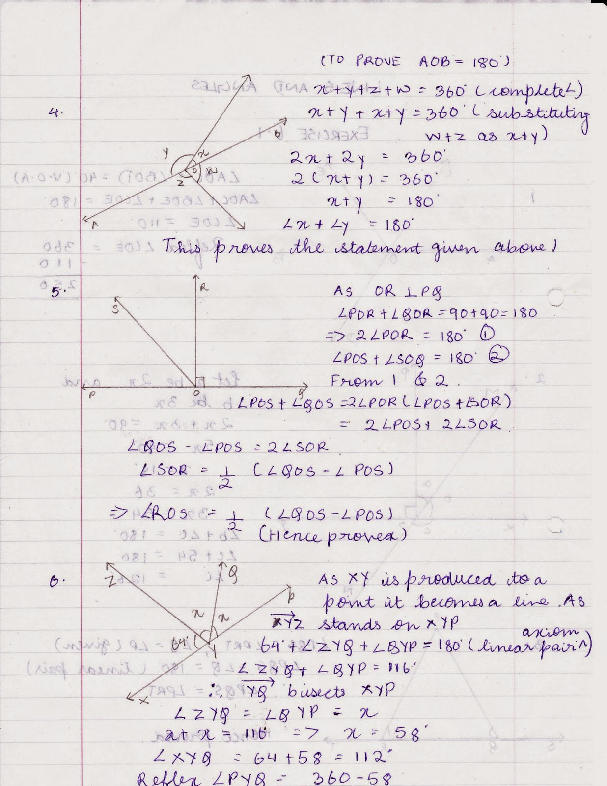 My Homework Class 9 Maths Chapter 6 Lines And Angles