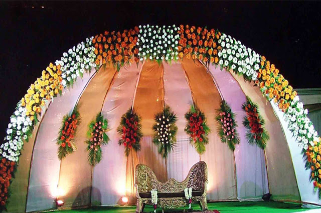 Beautiful Wedding Set Up Marriage Vows