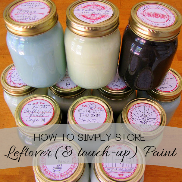 How To Simply Leftover And Touch Up Paint