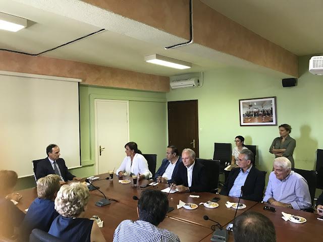 Περιοδεία Ανδριανού και κλιμακίου της ΝΔ στη Φλώρινα ενόψει της παρουσίας του Προέδρου της ΝΔ στη ΔΕΘ.