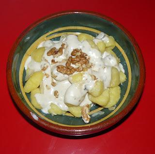 Recette gnocci gorgonzola noix