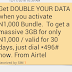 How To Get Airtel Double Data Offer - Get 3GB For Only 1k, 7GB For 2k or 18GB for 4k