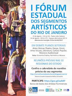 I Fórum Estadual dos Segmentos Artísticos Culturais - Reuniões Prévias (20/06) - Região Serrana