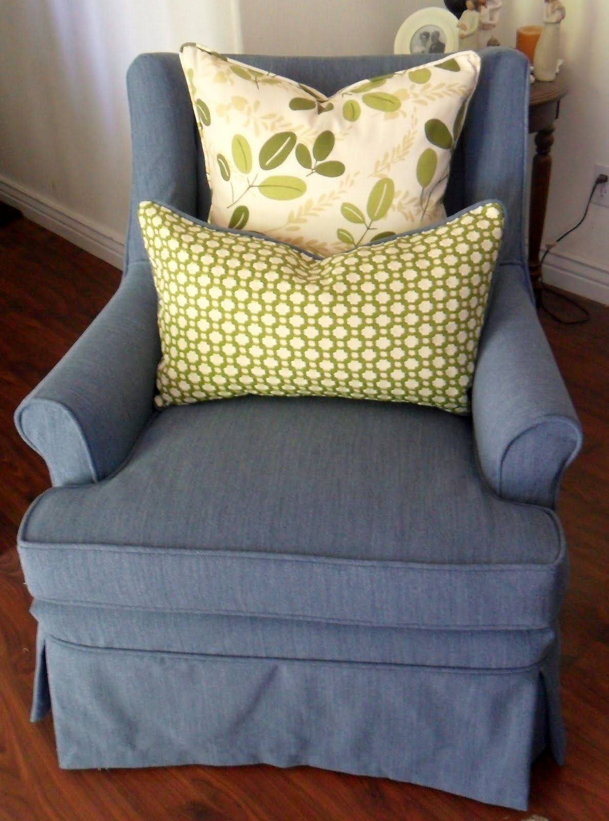 slipcovers for club chairs 5 position floor chair custom by shelley gloria 39s blue