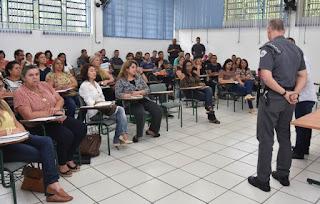 COMANDANTE DO 14º BPM/I SE REUNIU COM DIRETORES DA DELEGACIA DE ENSINO DE REGISTRO-SP