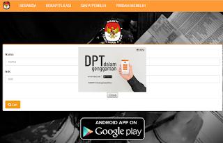 Cara Cek DPT Pemilu Pilpres 2019 via Online di Komputer atau Smartphone
