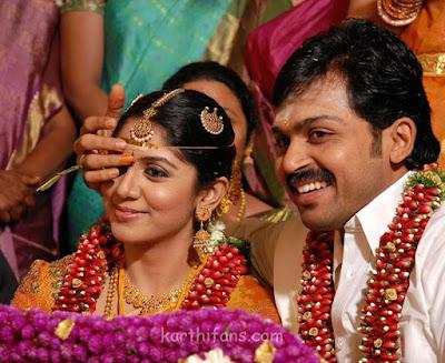 Karthi weds Ranjani