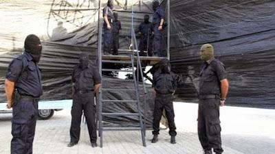 Execution of Hani Abu Aliyan in Gaza City on October 2, 2013