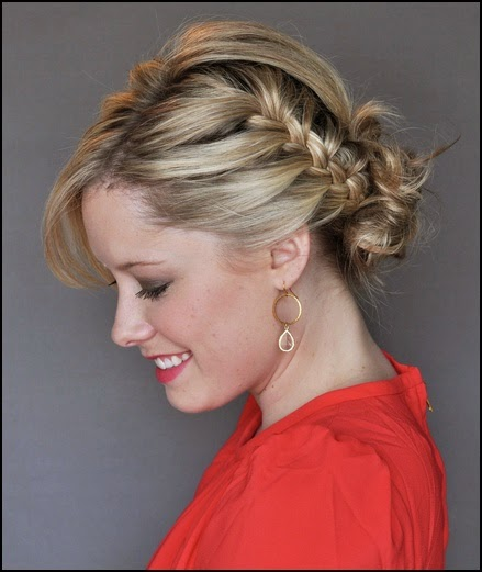 Omg! The Best French Braid Updo Ever!