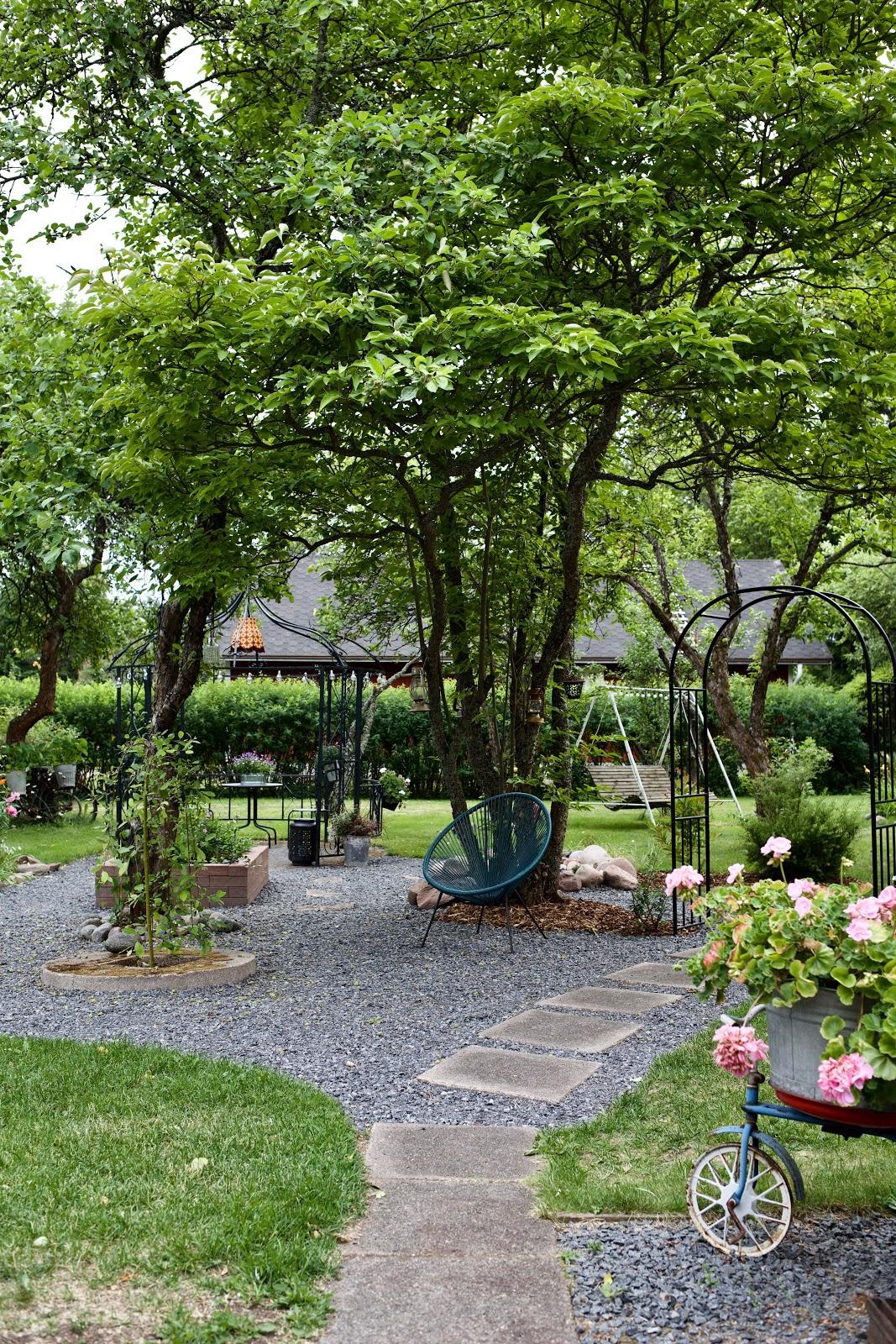 Keltainen kahvipannu blogi. Vanhan talon puutarha.