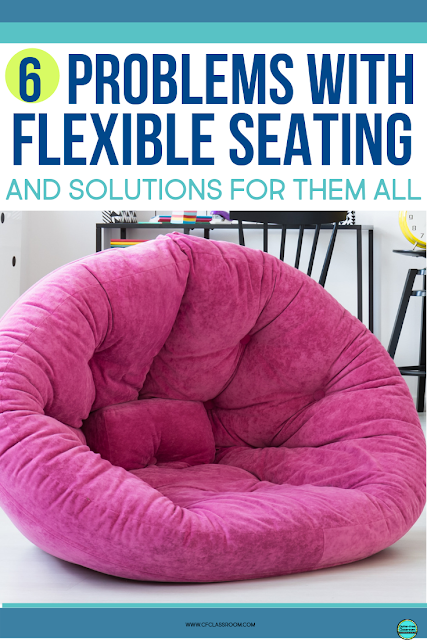 FLEXIBLE SEATING classrooms in elementary schools are very popular. Steal these MANAGEMENT and ORGANIZATION ideas and tips including having rules and expectations listed on anchor charts or having students sign a class contract. These blog posts share possible problems and solutions for flexible seating and offer a teacher's experience with using a specific flexible seating tool. Check it out! #classroomseating #flexibleseating #classroomtrends