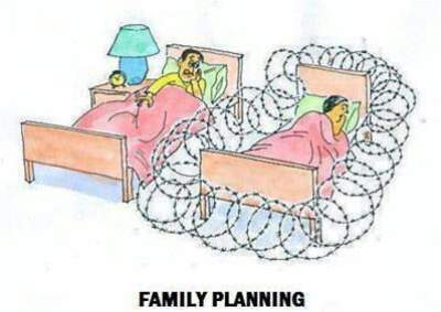 showing funny family planing tricks