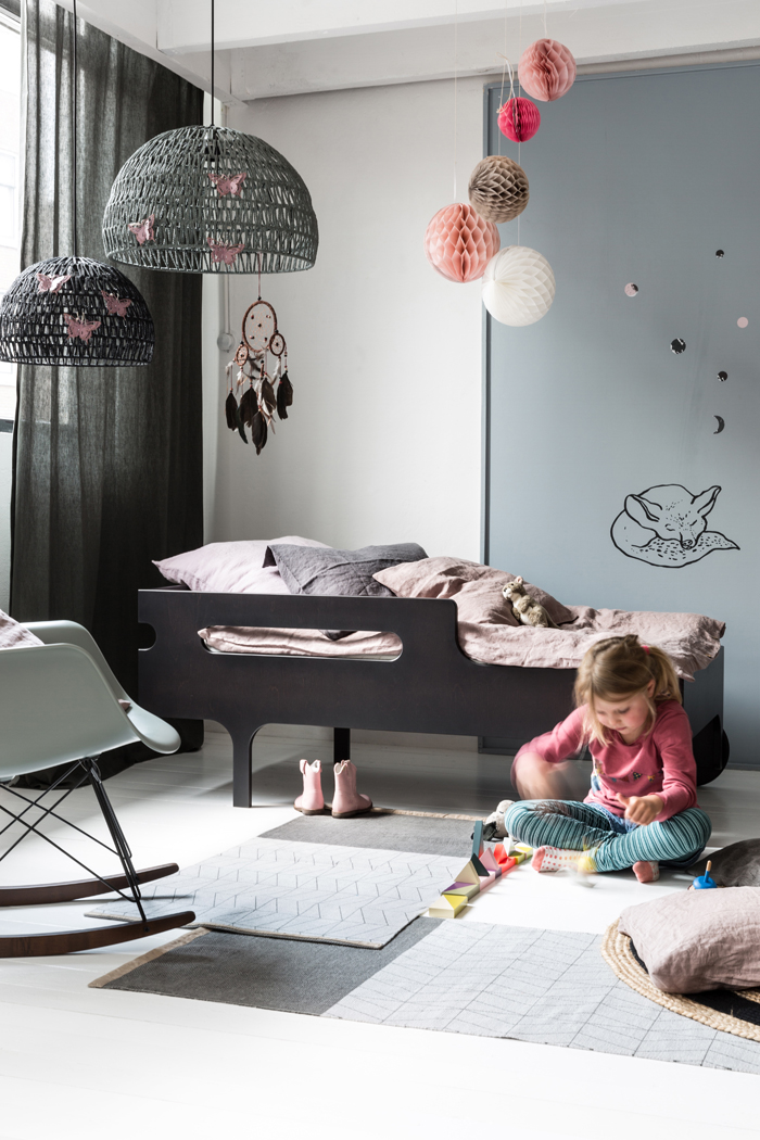stone washed linen for children bedroom at Rafa-kids