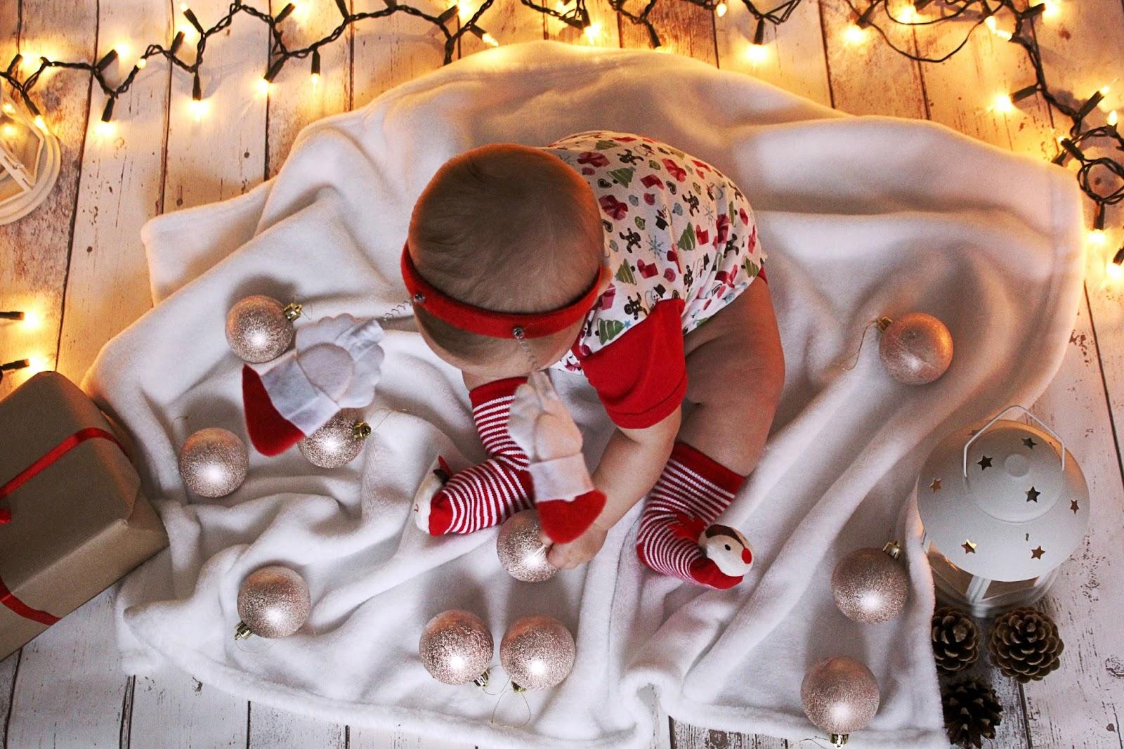 fotograficzna sesja świąteczna w domu