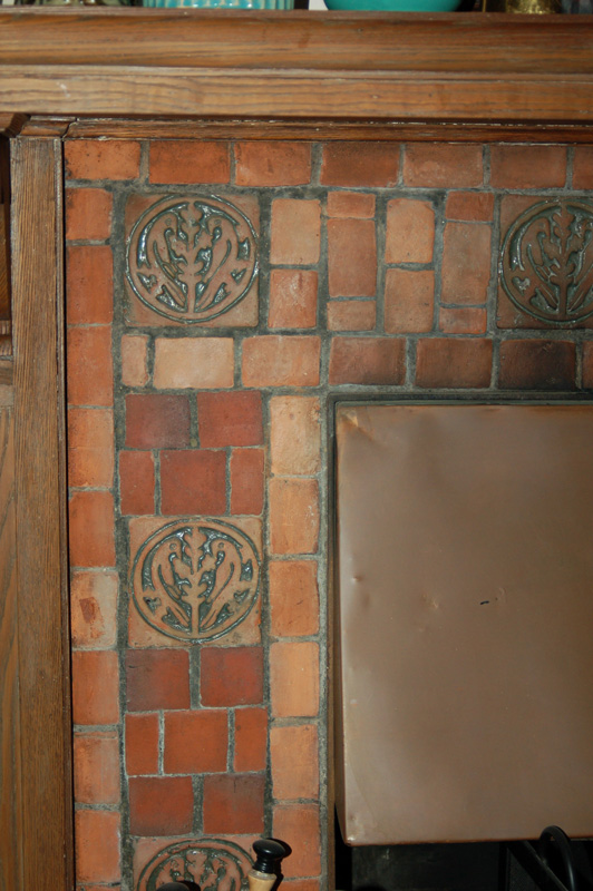 A Corner Of The Living Room Fireplace With Moravian Tiles Photos Courtesy Whit Waterbury