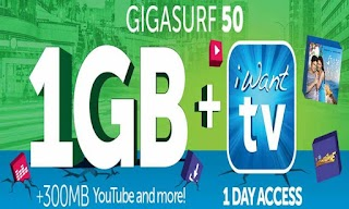 Smart offers iWant TV Streaming Access on Gigasurf Promo