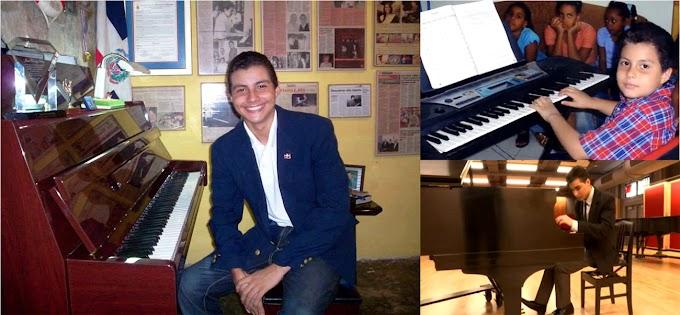 Prodigioso pianista dominicano de 18 años gana beca en prestigiosa escuela de música de NY