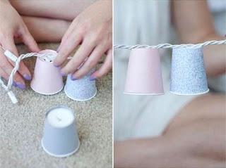 Cara Membuat Kerajinan Tangan Yang Mudah, Lampu Gelas Plastik 9