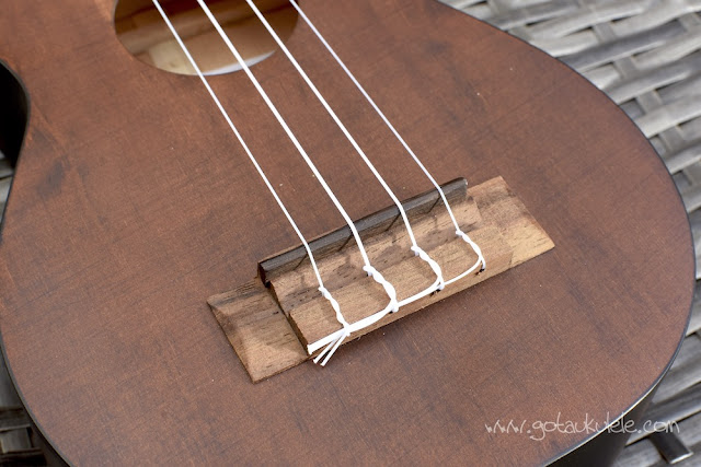 Barnes and Mullins Bowley Ukulele bridge